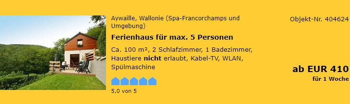 Belgien-Aywaille-Wallonie (Spa-Francorchamps und Umgebung)
